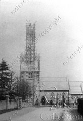 Building of St Paul's church spire