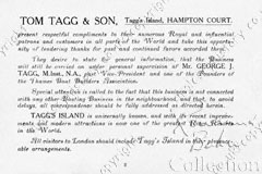 Tom Tagg and son Brochure