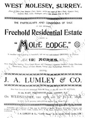 Mole Lodge sale catalogue