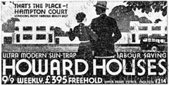 Ad for Howard Houses